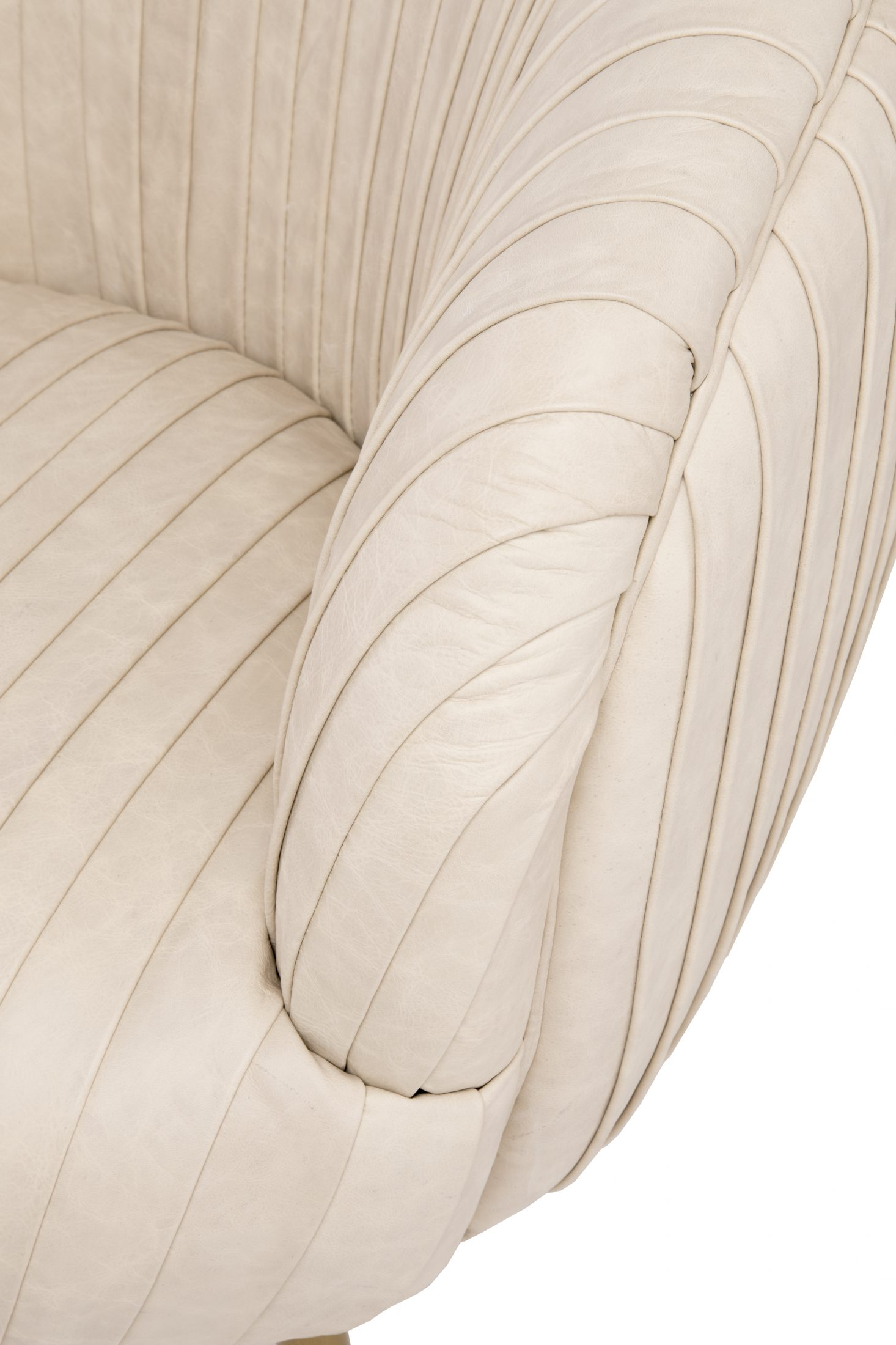 Wondrous Pleated Chair Latte Leather Arden Home Forskolin Free Trial Chair Design Images Forskolin Free Trialorg